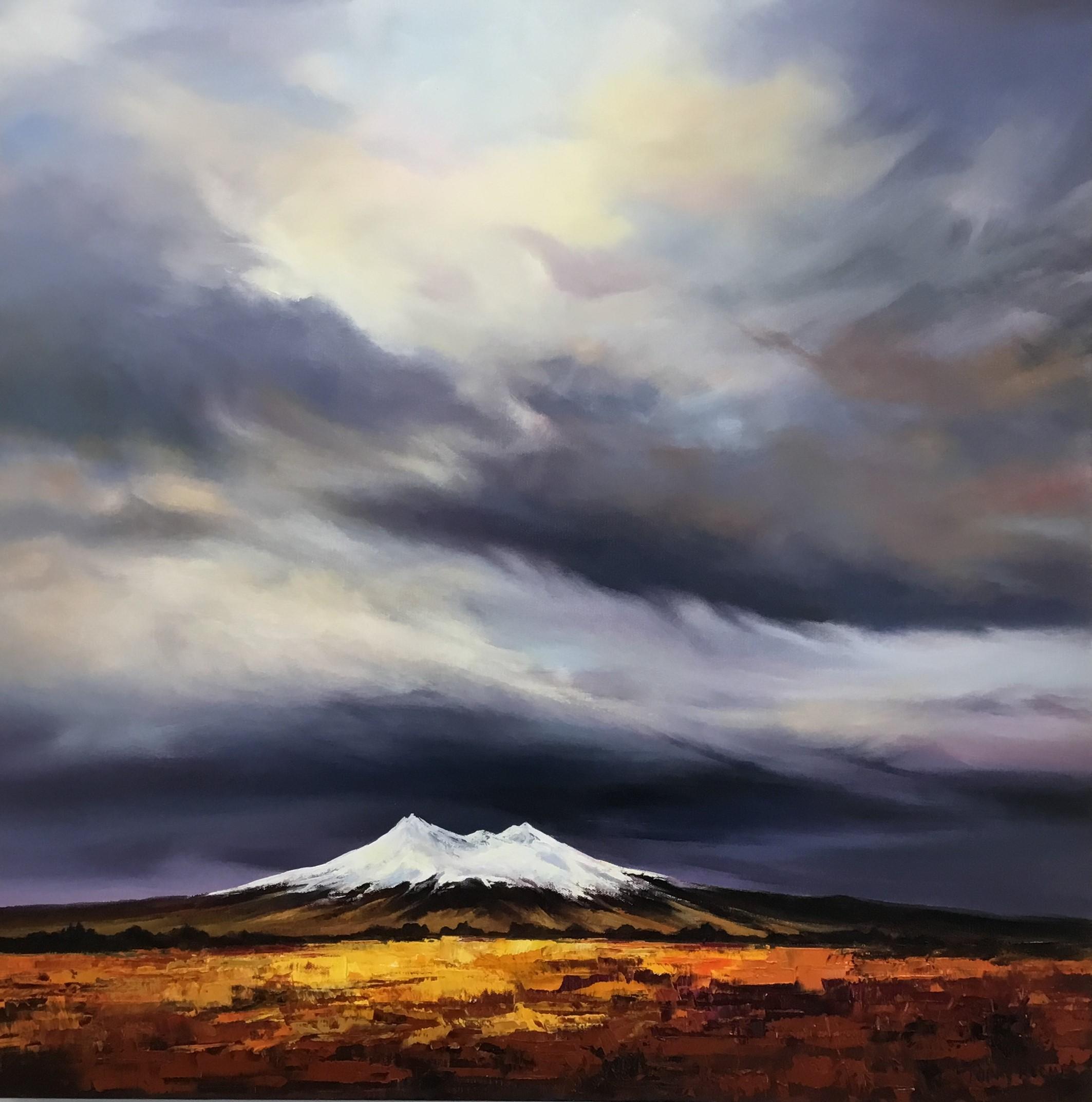 "Mt Ruapehu"" Oil on Canvas $2"