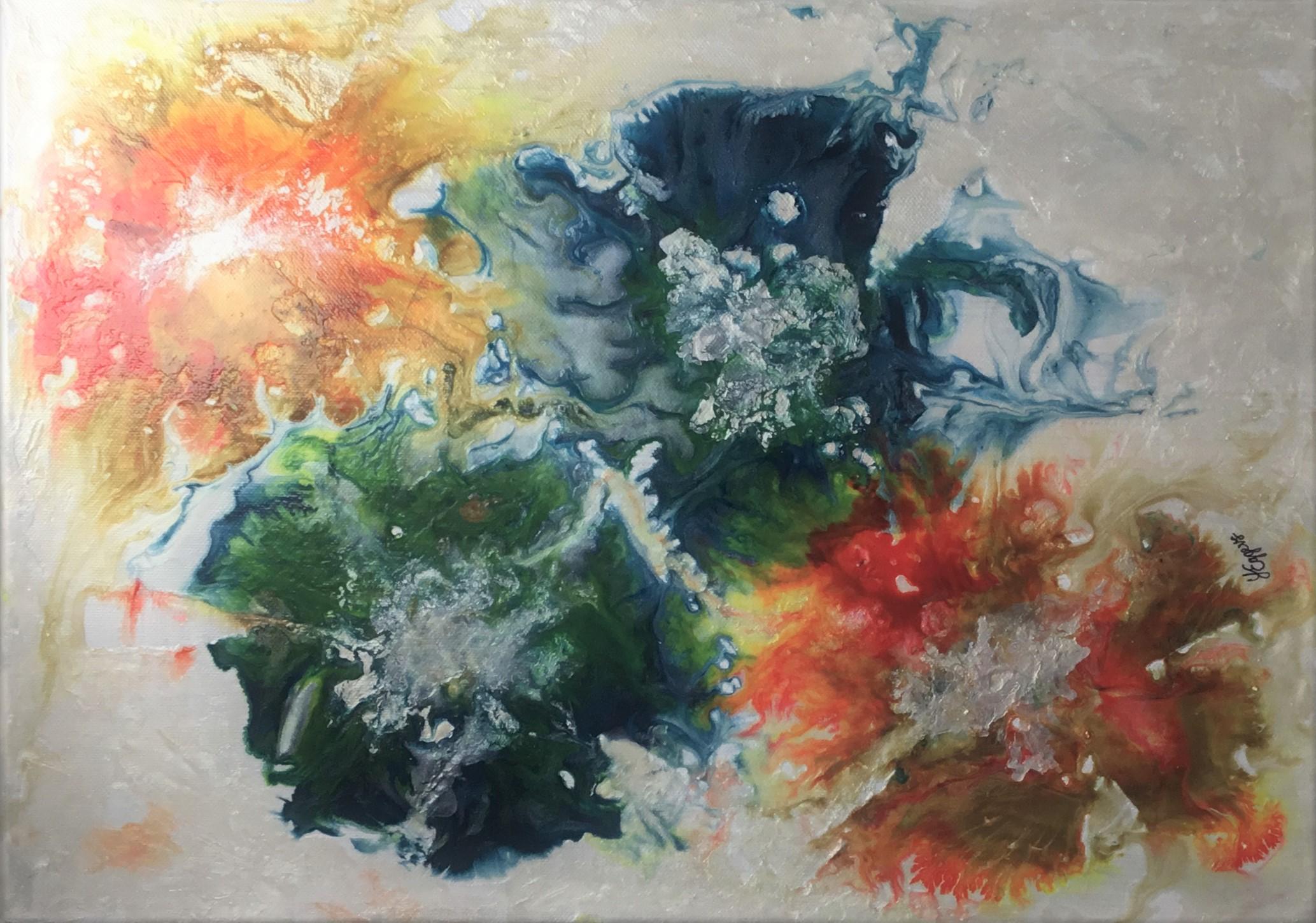Flowers ORIGINAL Ink Liquid Pouring