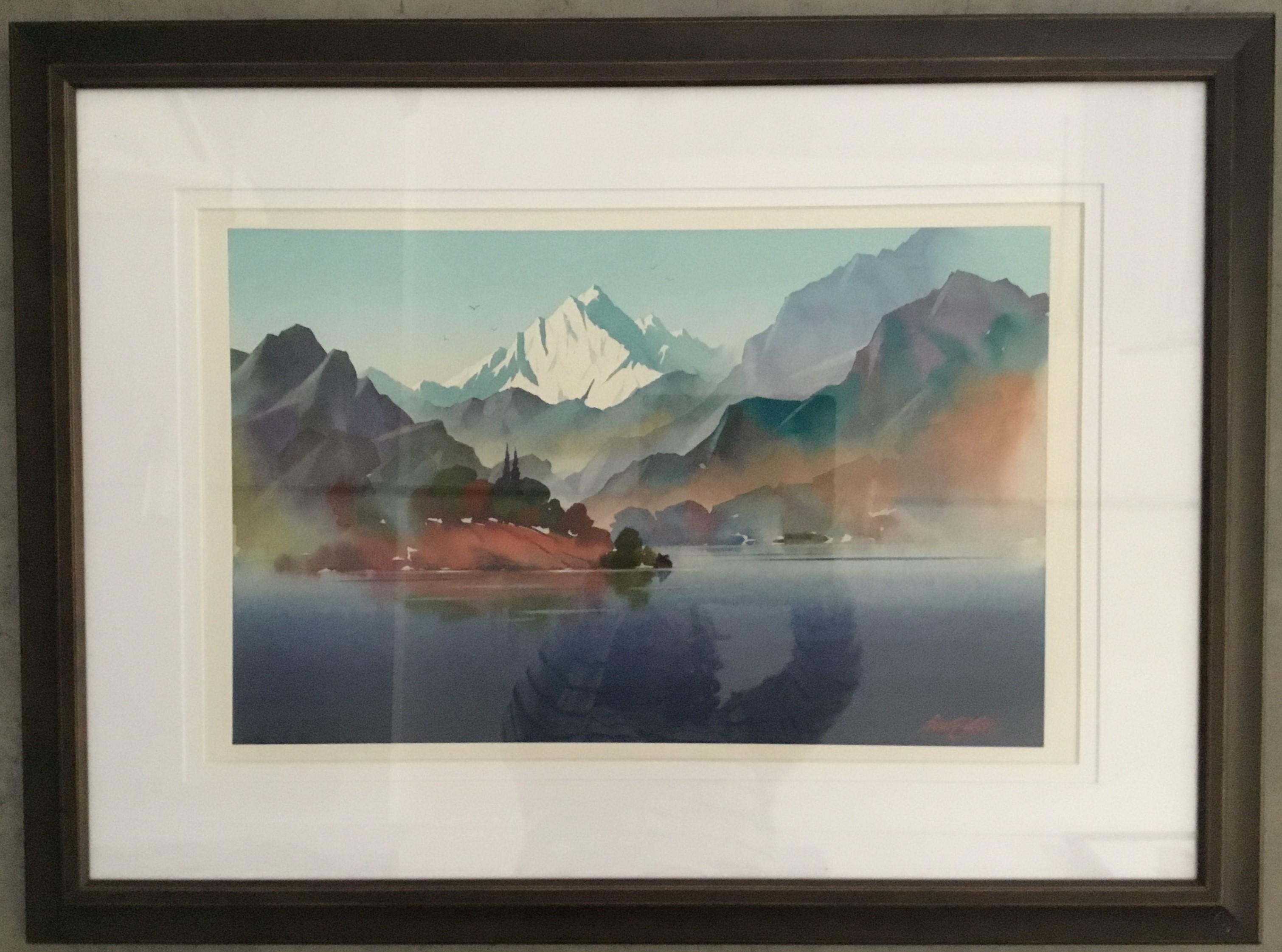 Ivan Button - Mt Cook Water Colour Large