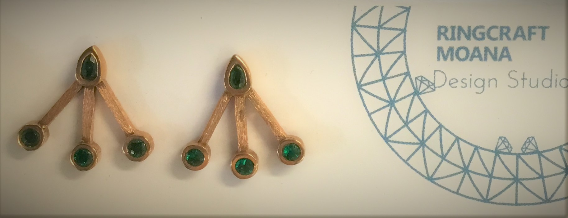 Emerald And 9ct Gold Earrings