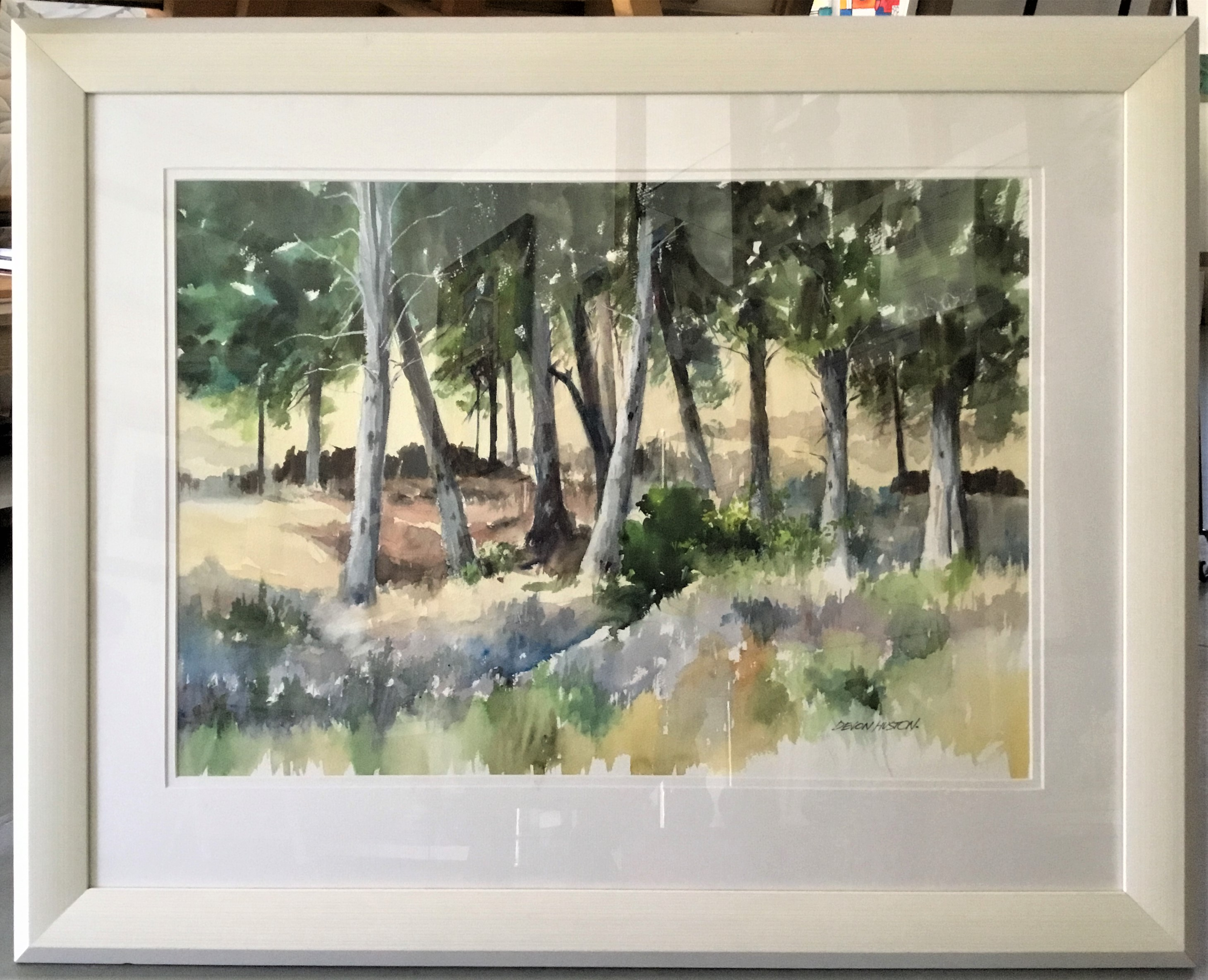 Edge Of The Forest Water Colour Framed