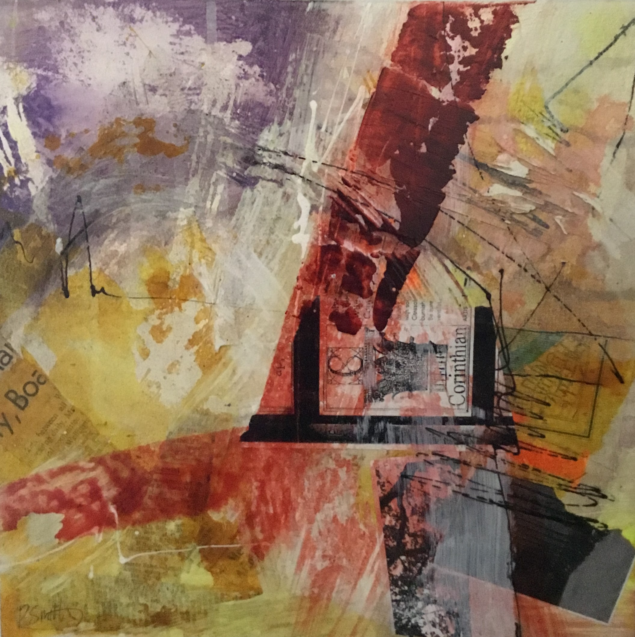 Fragment Series 2 Mixed Media On Canvas