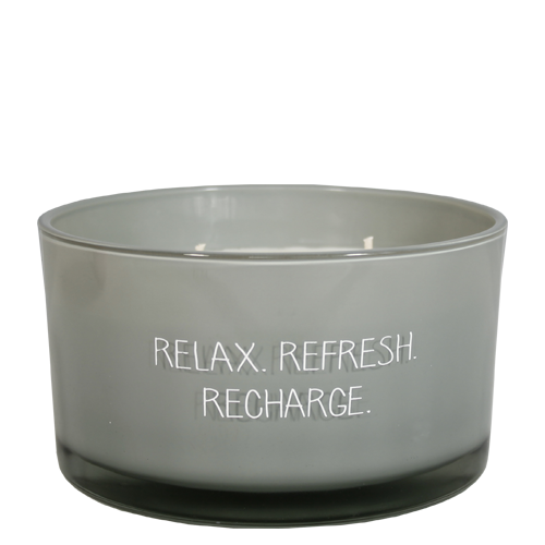 Geurkaars - Relax Refresh Recharge - Geur minty bamboo