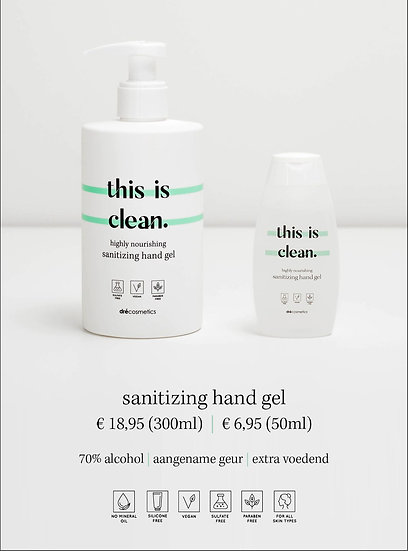 Sanitizing hand gel 'this is clean' (300ml)
