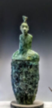 Hamadryad. glazed clay 29 x 19 x 11 inches