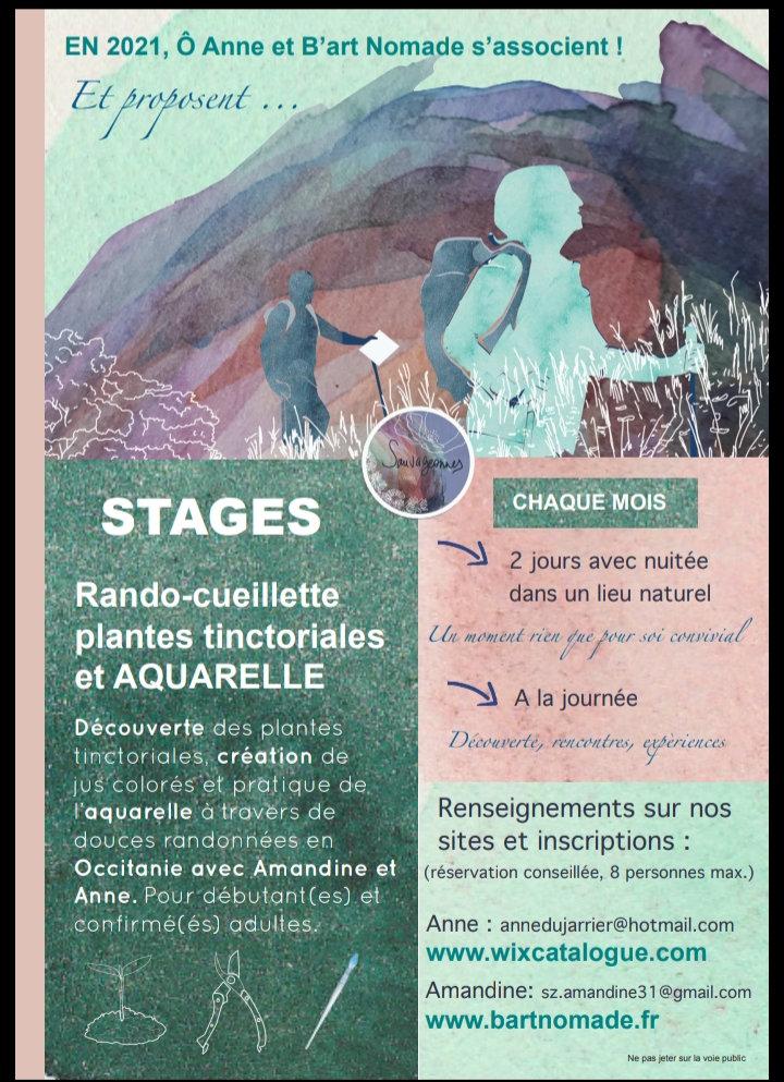 Stage Rando/cueillette/aquarelle