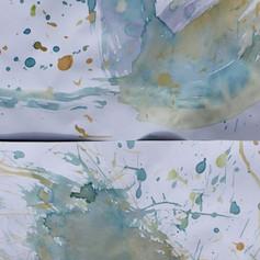 Atelier enfant, peinture expérimentale