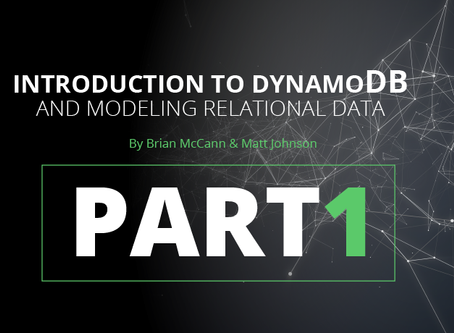 Introduction to DynamoDB and Modeling Relational Data (PART 1)