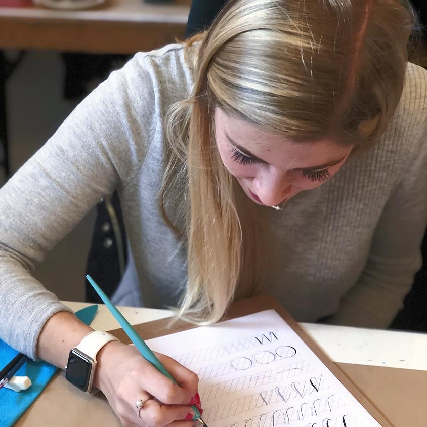 Stroud: Beginners Modern Calligraphy Brush Workshop - Evening