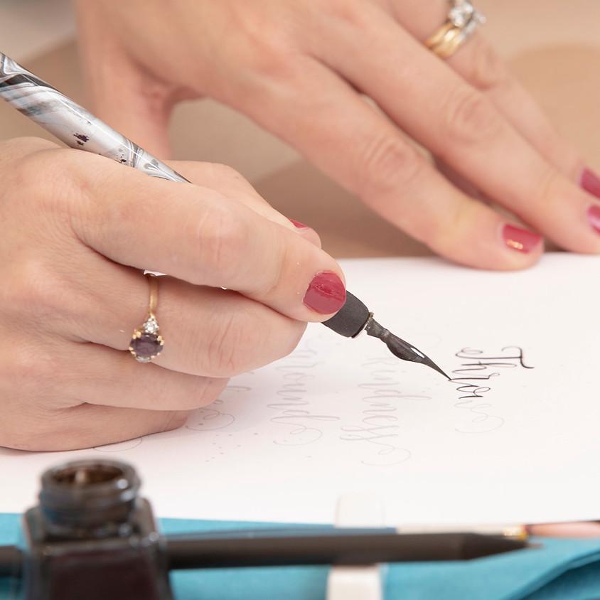 Cheltenham: Beginners Modern Calligraphy Pointed Nib Workshop - Wednesday 13th November 2019 - Morning