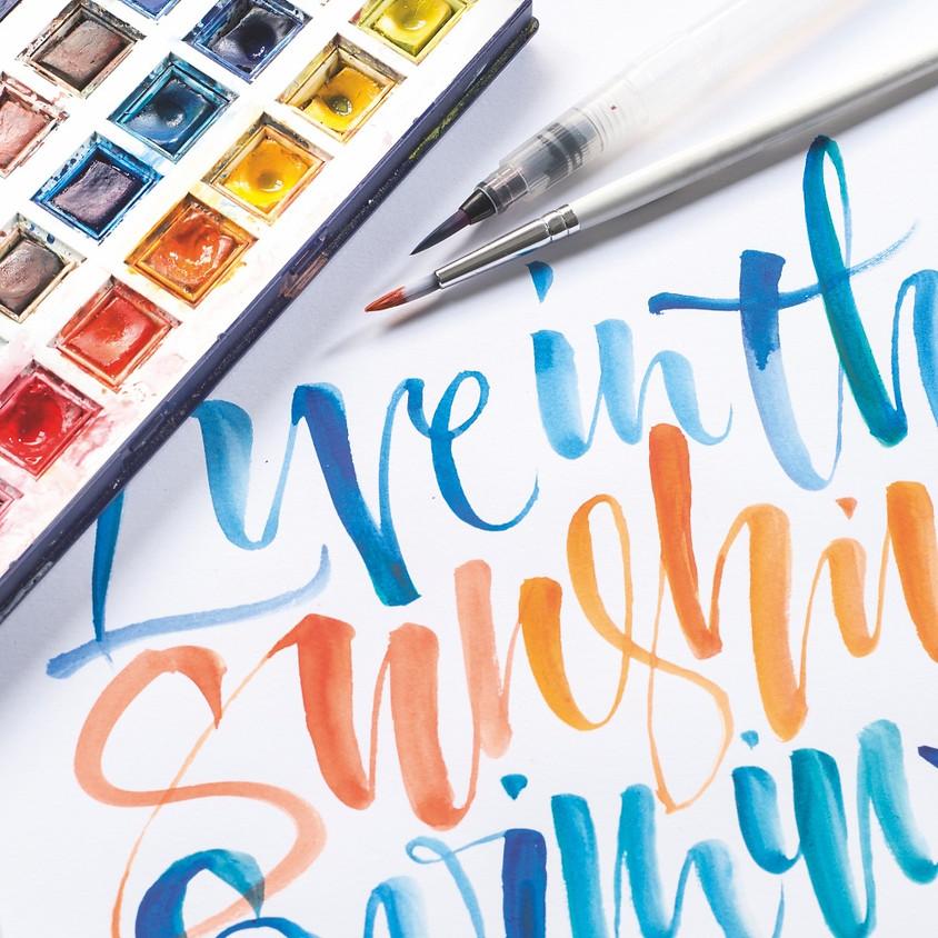 Beginner Watercolour Calligraphy  - Evening Live Stream