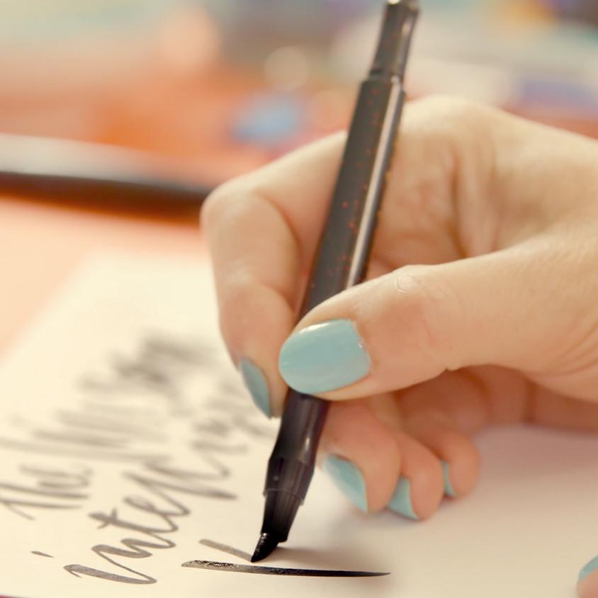 Chichester: Beginners Modern Calligraphy Brush Workshop - Full Day