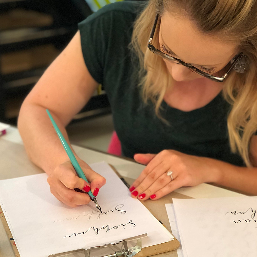Covent Garden: Beginners Modern Calligraphy Pointed Nib Workshop - Evening