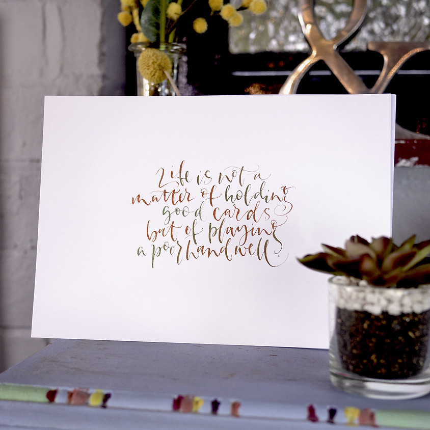 Beginner Modern Calligraphy Course - 10 Weeks Live Stream
