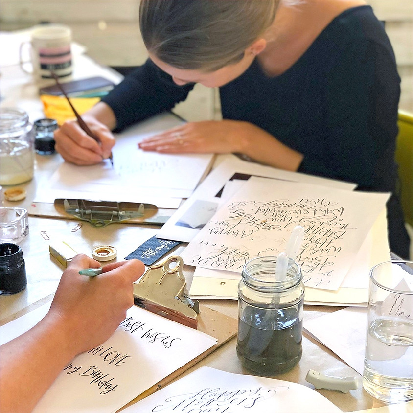 Chichester: Beginners Modern Calligraphy Pointed Nib Workshop - Full Day