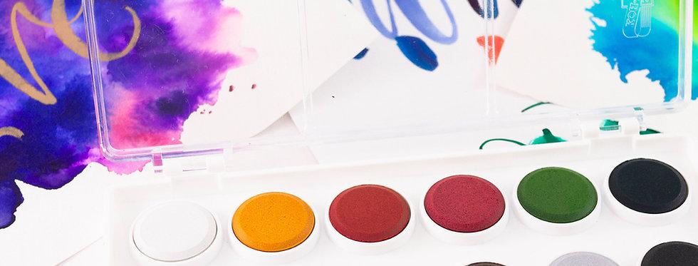 Watercolour Paint Palette