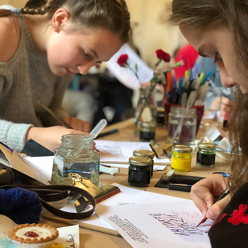 Chichester: Family Friendly Modern Calligraphy Workshop - Morning