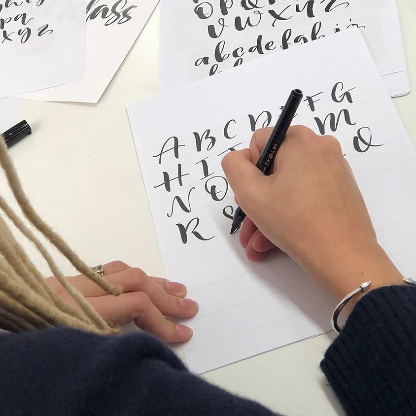 Chichester: Beginners Modern Calligraphy Brush Pen Workshop - Full Day