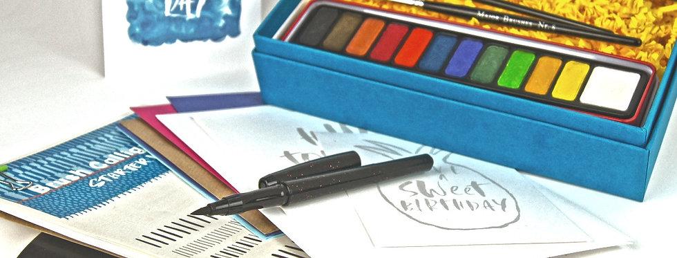 Kids Brush Lettering Calligraphy Starter Kit