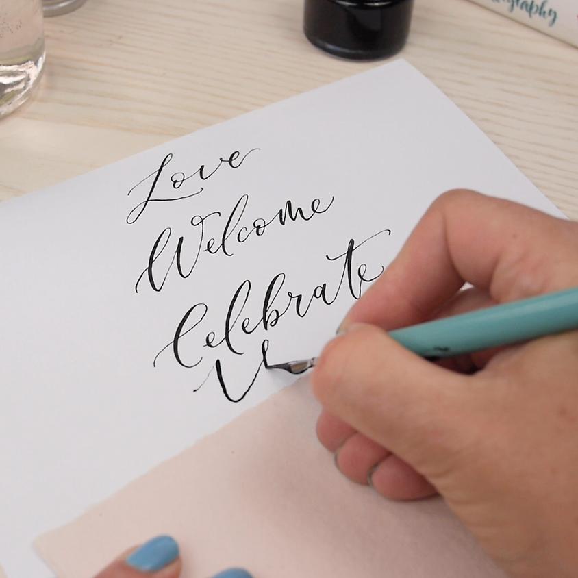 NOT LIVE 10-week modern calligraphy course - beginner to intermediate level.