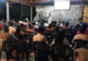 Dave preaching at El Calvario
