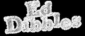 PNG Ed Dibbles lettering only transparen