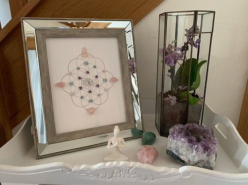 'Unicorn Magic' crystal grid