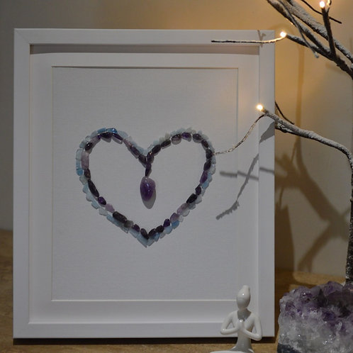 'Peaceful heart' framed picture