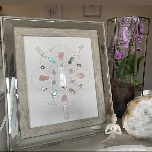 'Sacred Feminine' crystal grid