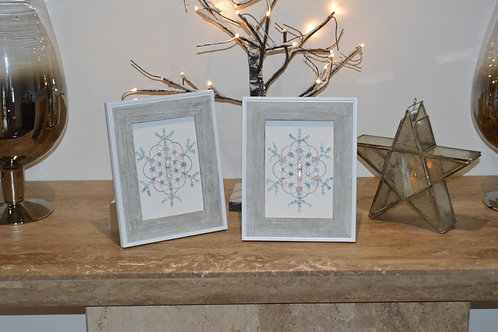 'Peaceful snowflakes' crystal grids