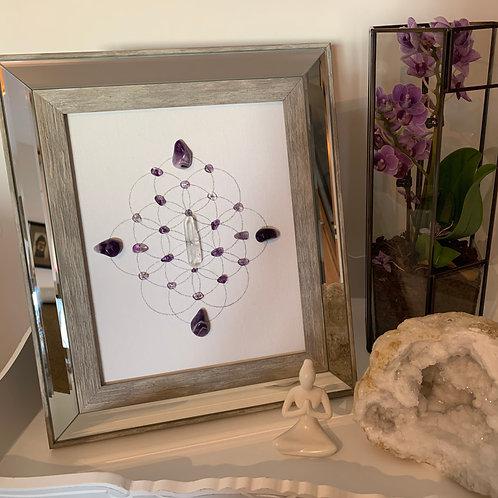 'Spirit and Soul' crystal grid