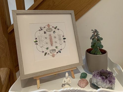'Ethereal Bliss' crystal grid