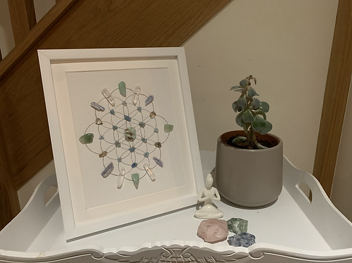 'Calming Shores' crystal grid