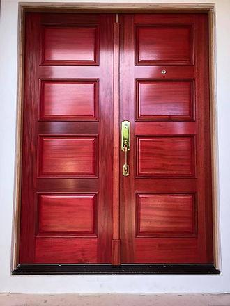 wood panel door
