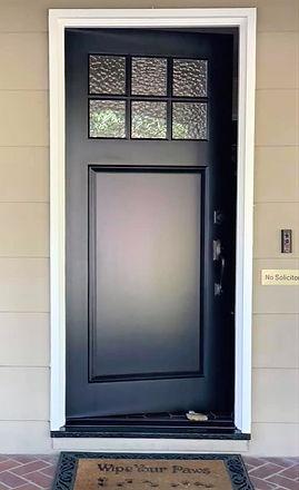 wooden door glass