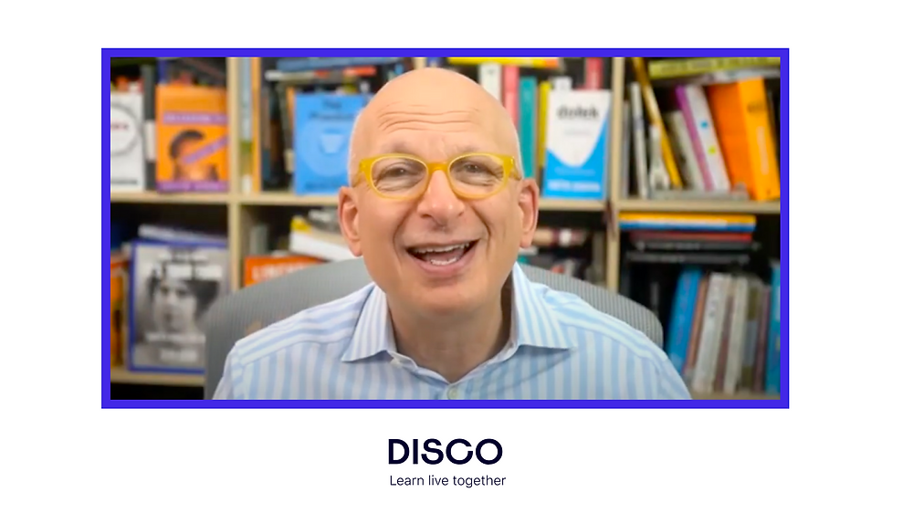 Seth Godin shares top 10 tips on how to create transformative learning experiences through cohort based courses on Disco.co