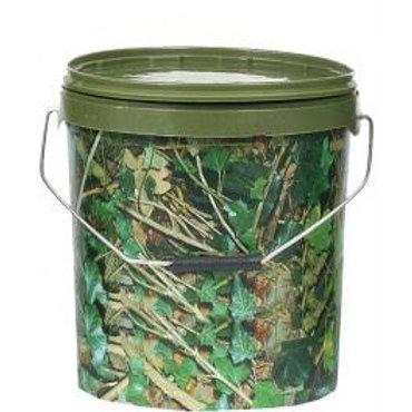 18 Litre Round Camo Bait Bucket
