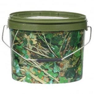 10 Litre Round Camo Bait Bucket