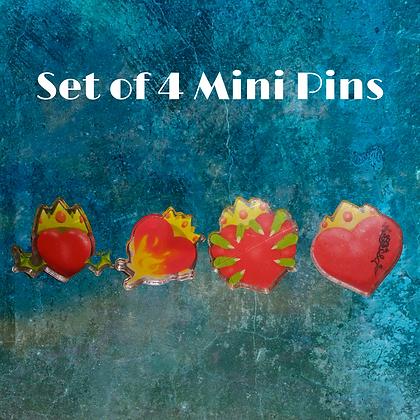Dragon King Serie Chapter Art Pins- Books 1-4