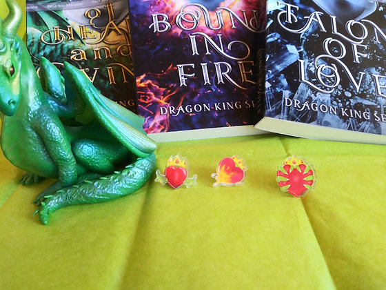 Dragon King Series Chapter Art Pins