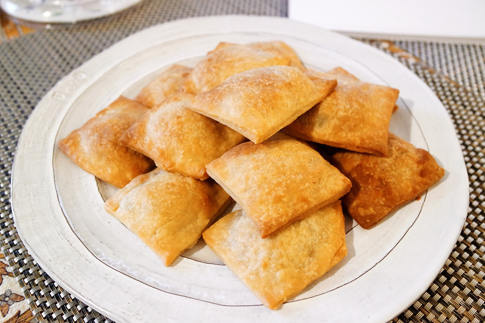A plate of square mince pie pop tarts.