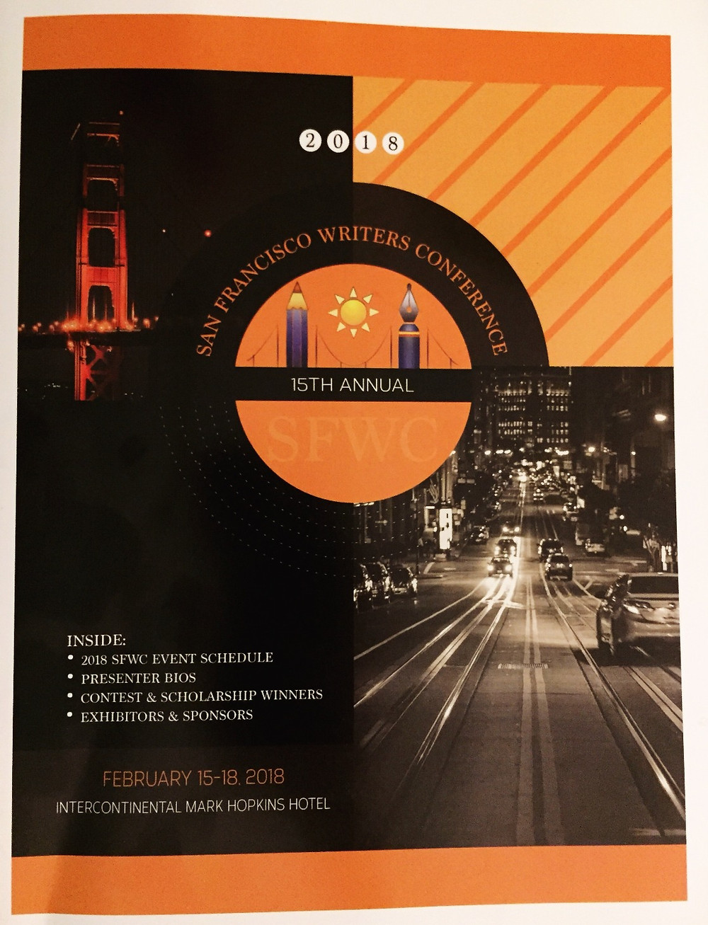 San Francisco Writer's Conference 2018 program