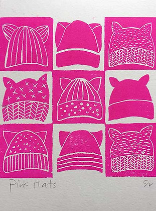 Pink pussy hat print
