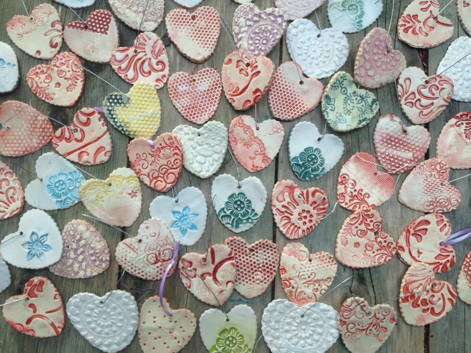 hearts ornaments