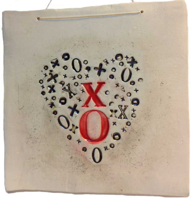 X O heart wall hanging