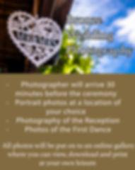 Bronze Wedding Photography Package