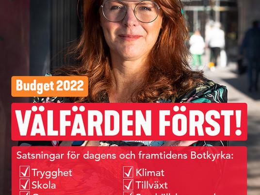 Välfärden först i kommunbudget för 2022