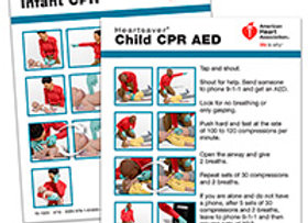Heartsaver® Child And Infant CPR AED Wallet Card