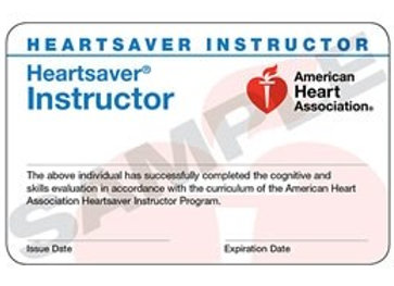 Heartsaver Instructor Card