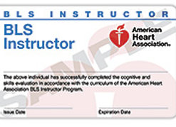 BLS Instructor Card